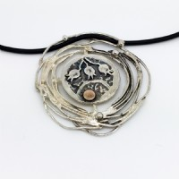 Shalom coin necklace