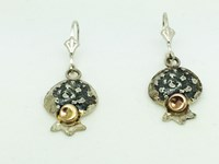 Domed pomegranate earrings